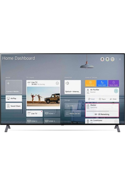 "LG 55NANO956NA 55"" 139 Ekran NanoCell 8K Ultra HD Smart LED TV"