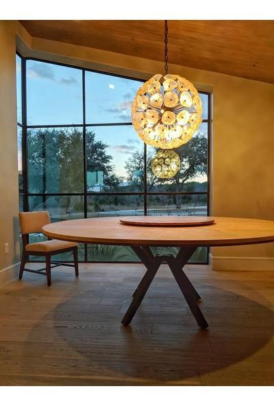 Metal Masa Ayağı Yuvarlak Masa Yemek Masası Ayak Modelleri Ahtapot Masa Ayağı 73X80 cm