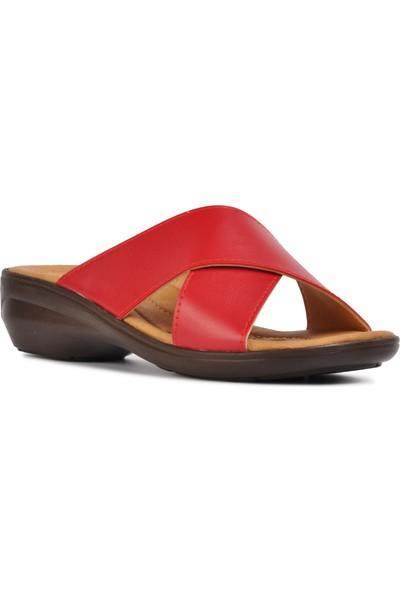 Classter Kırmızı Comfort Kadın Terlik