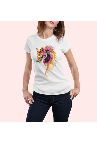 Grif Kurt Baskılı Kadın T-Shirt
