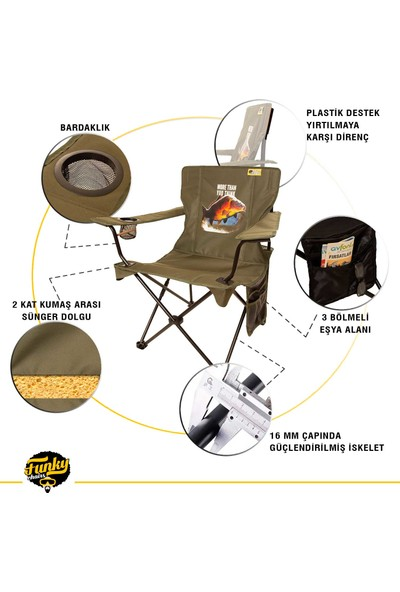 Funky Chaırs V2 Carp Lüks Kamp Sandalyesi
