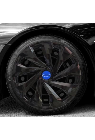 Avsaroto Ford Focus 15'' Inç Piano Black Parlak Siyah 4'lü Set Jant Kapağı