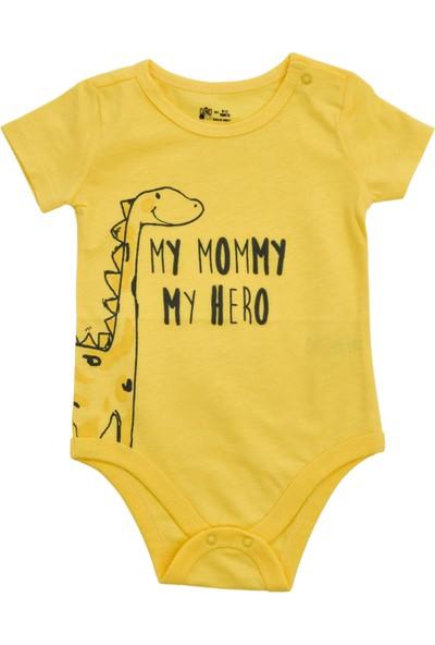 Bebek Kısa Kollu Body Kız / Erkek Erketu Bebek Body