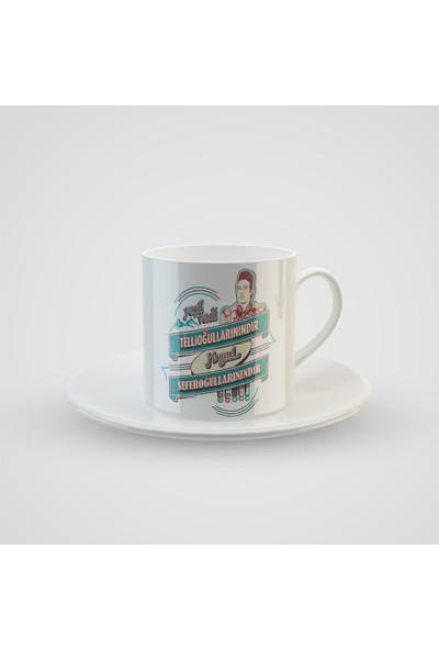 Promosyon Yaptır Tosun Paşa Illüstrasyon Baskılı Türk Kahvesi Fincanı