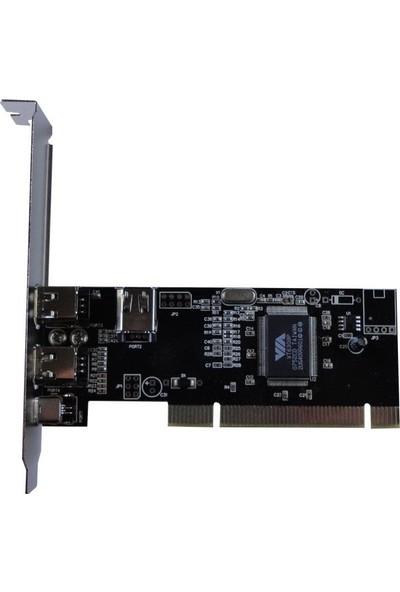Platoon PCI 1394 Firewire Kart 3X6PIN - 1x4 Pin