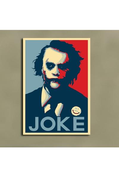Sönmezce SRSH34 - Heath Ledger Poster Stili Joker Kanvas Tablo