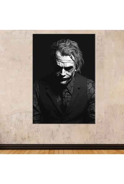 Sönmezce SRSH6B - Siyah Beyaz Joker (Heath Ledger) Kanvas Tablo