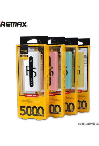 Remax Proda Powerbank 5000MAH Taşınabilir Şarj
