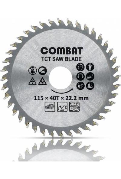 Combat Ahşap Kesme Sunta Testeresi 115 mm 40 Diş +Matkap Aparatı