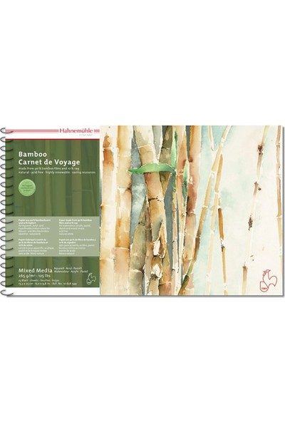 Hahnemühle Bamboo Mix Ed Media Defter 15.3 x 25 cm 265 gr