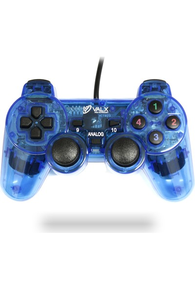 Valx Kol Pc Analog Titreşimli Işıklı Valx J-102 Şeffaf Mavi