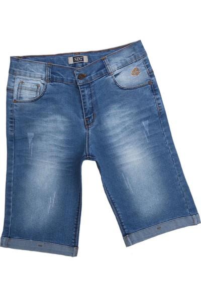 Szg Jeans Life For Moda Erkek Çocuk Likralı Yıkamalı Kot Şort