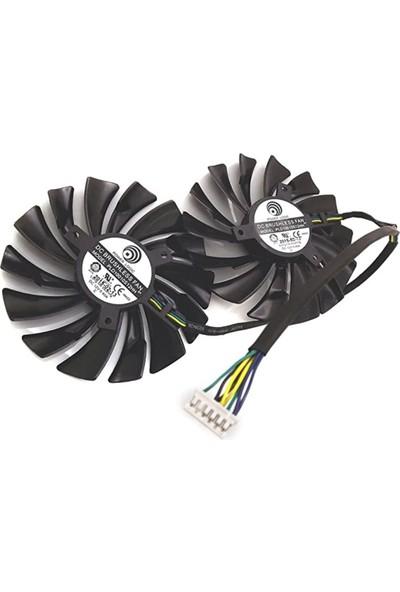 Everflow Msı GTX980TI GTX970 GTX980 Grafik Kartı Soğutucu Soğutma Fan