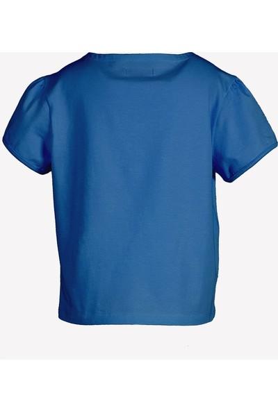 Ozmoz 23 Nisan'a Özel Kız Çocuk Organik Mavi Tshirt