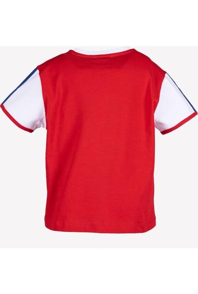 Ozmoz 23 Nisan'a Özel Erkek Çocuk Organik Kırmızı Tshirt