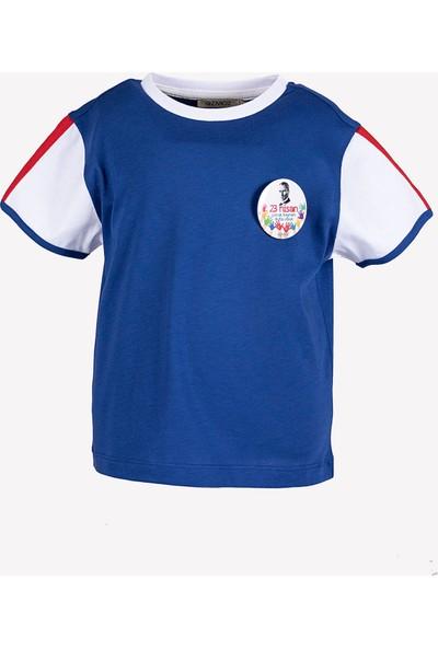 Ozmoz 23 Nisan'a Özel Erkek Çocuk Organik Mavi Tshirt
