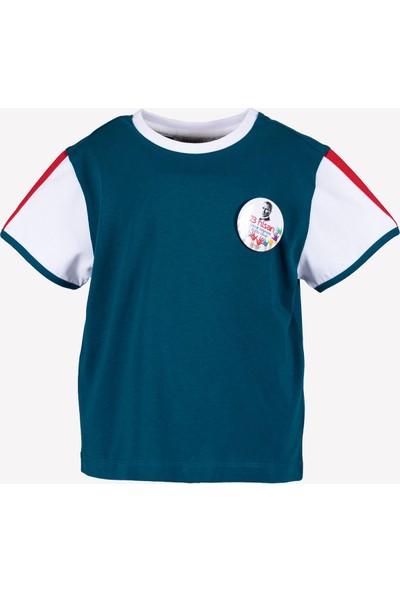 Ozmoz 23 Nisan'a Özel Erkek Çocuk Organik Yeşil Tshirt
