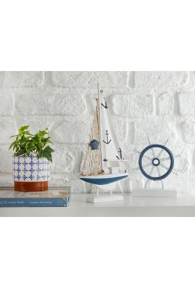 English Home Sailers Mdf Dekoratif Obje 16X3,5X31,5 cm Beyaz