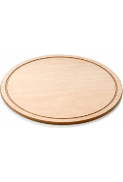 Hitfoni Ahşap Pizza Tahtası 34 cm. Pide Lahmacun Servis Altlığı