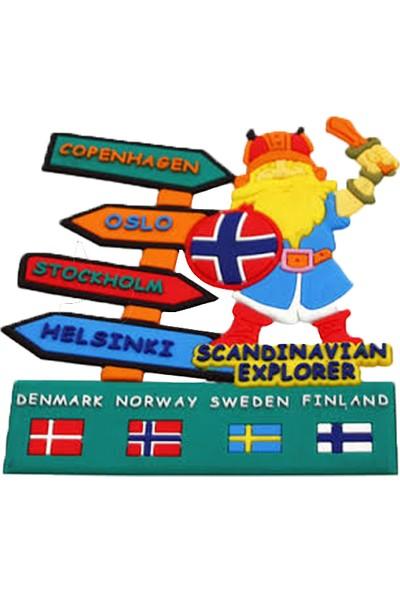 Vera Buzdolabı Magneti Avrupa Şehirleri Iskandinavya