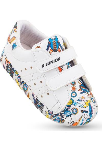 Kaptan Junior Kız Çocuk Bebek Spor Ayakkabı Ilkadım Ortapedik