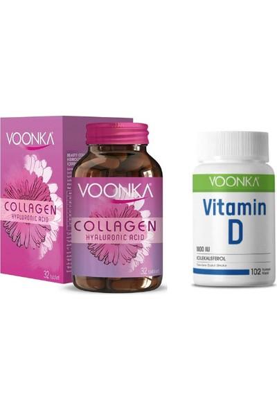 Collagen Hyaluronic Acid Kolajen 32 Tablet + D Vitamini 1000 Iu 102 Kapsül