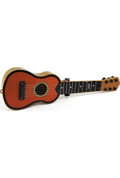 Samatlı Ispanyol Oyuncak Gitar Kahverengi