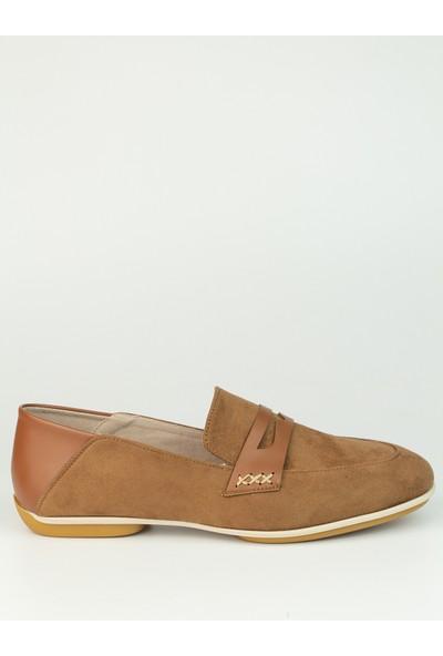 Marine Shoes Kadın Taba Bağcıksız Babet
