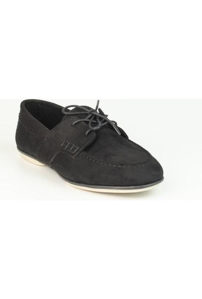 Marine Shoes Kadın Siyah Bağcıklı Babet