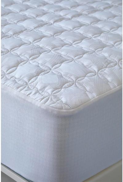 Soft Cotton Çift Kişilik Yatak Koruyucu Krem 160*200 cm