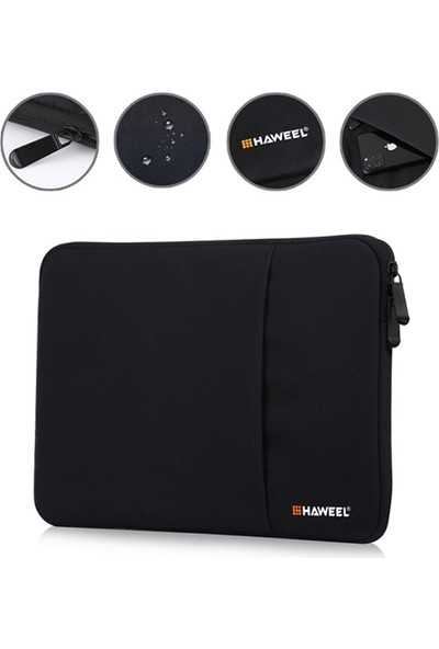 """Dybox Haweel Serisi 13"""" Macbook Air Pro ve Universal Laptop Taşıma Çantası - Kılıfı Siyah"""