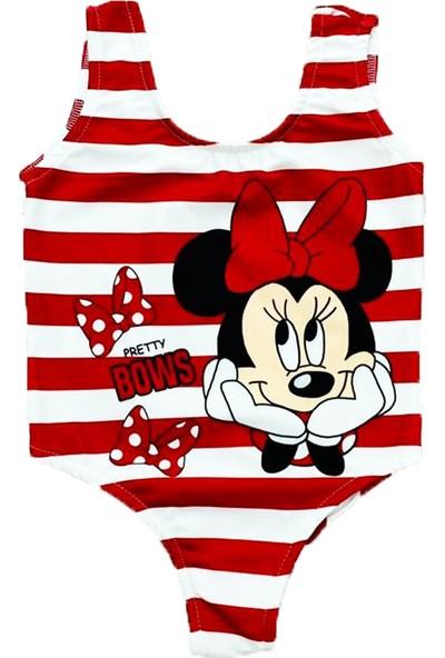 Minnie Mouse Kız Çocuk Mayo