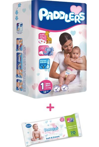 Paddlers 1+1 Deneme Seti - Bebek Bezi (Newborn) + Islak Mendil