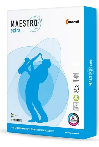 Mondi Maestro Extra A4 Gramajlı Fotokopi Kağıdı 160 gr 1 Koli 5 Paket