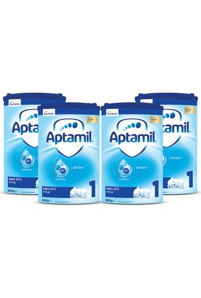 Aptamil 1 Bebek Sütü 800 gr 0-6 Ay Akıllı Kutu x 4 Adet