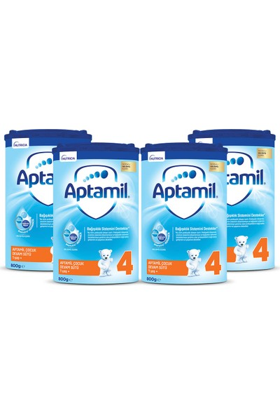 Aptamil 4 Çocuk Devam Sütü 800 gr 1 Yaş+ Akıllı Kutu x 4 Adet