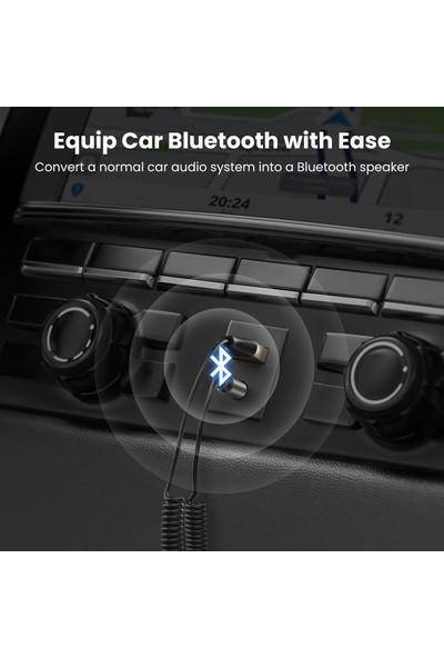 Ugreen Mikrofonlu 3.5mm Aux Bluetooth 5.0 Alıcı Adaptör Araç Kiti