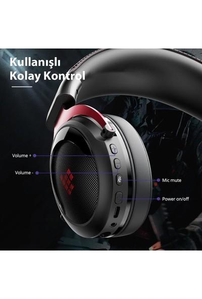 Tronsmart Shadow 2.4ghz Rgb Kablosuz Mikrofonlu Kulak Üstü Oyuncu Kulaklığı