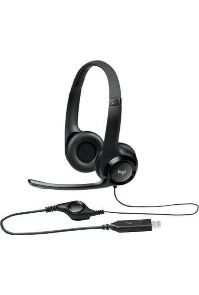 Logitech H390 USB Stereo Mikrofonlu Kulaküstü Kulaklık Siyah