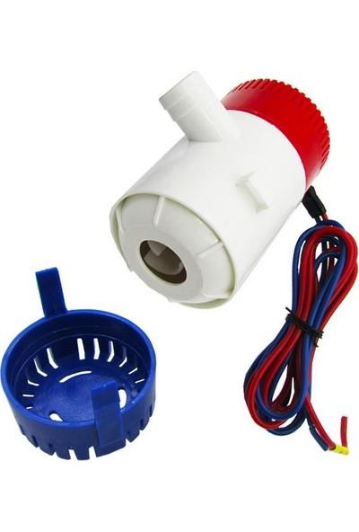 Profisher Dalgıç Elektrikli Su Pompası 1100GPH Dc 24V Tekne Sintine Pompası + Şamandıra