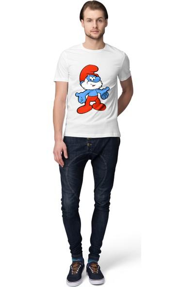 Grif Şirin Baba Baskılı Erkek T-Shirt