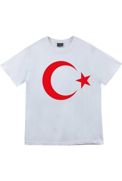 Renkli Pazar Beyaz Bayraklı Tişört Çocuk