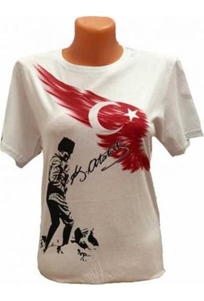 Renkli Pazar Ayıldızlı Atatürklü Çocuk Tişört