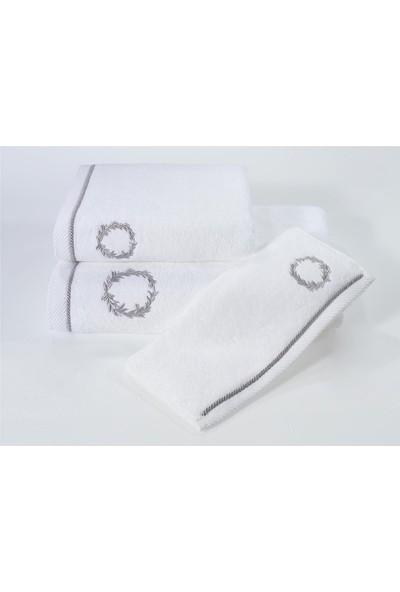 Soft Cotton Şehzade Havlu Beyaz 50*100 cm