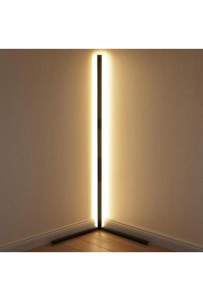 Alfonso Metal Dekoratif Minimalist Led Lambader 150x30cm Animasyonlu Kumandalı Renkli Köşe Lambası