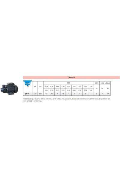 Impo Qb 60K-1 Periferik Pompa 0,5 Hp - 40 Mss Basabilir.