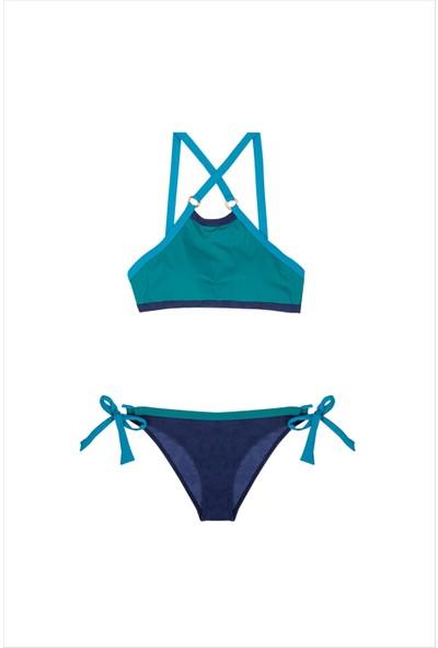 Ayyıldız Kadın Yeşil Halter Yaka Bikini Takımı 1508 YEŞİL-467