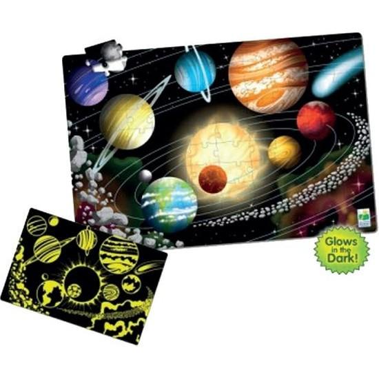 Learning Journey Fosforlu Yer Puzzle 100 Parça/ Uzay