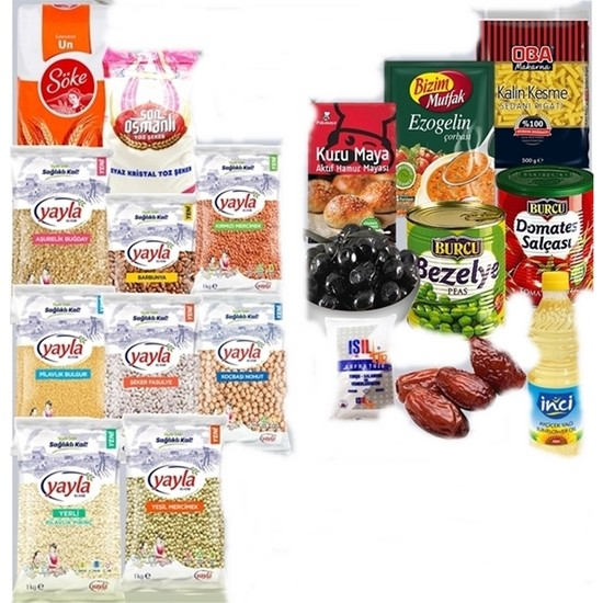 Yayla Lüks Gıda Erzak Paketi 27 Parça - Tbyg-Erzak-7