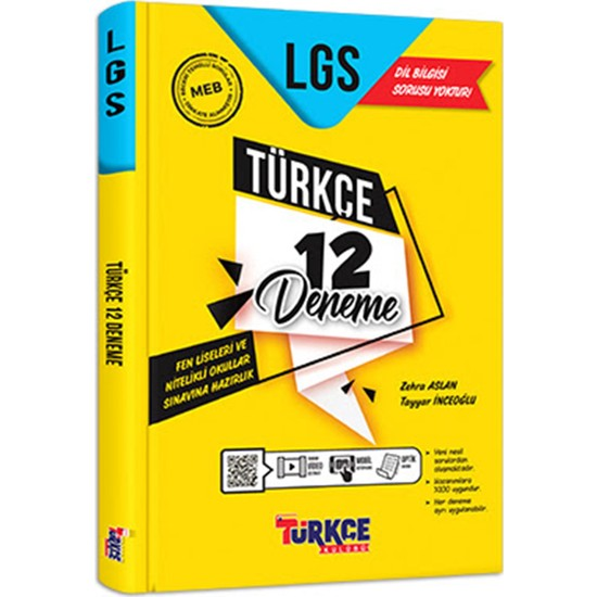 Türkçe Kulübü Lgs Türkçe 12 Deneme